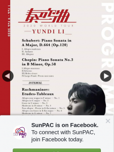 SunPAC Brisbane – Win One of Two Double Passes to See Yundi Li In Concert at Qpac