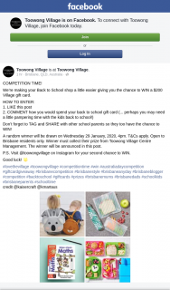 Toowong Village – Win a $200 Village Gift Card