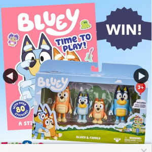 Toys R Us Australia – Win this Bluey Figurine Pack & Sticker Book