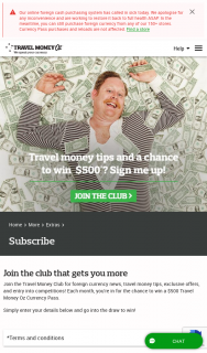 Travel Money Oz – Win a $500 Travel Money Oz Currency Pass (prize valued at $6,000)