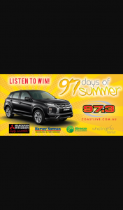 West Coast Radio 97.3 – Win The New Mitsubishi Asx Es Auto Hatch In Metallic Black Valued From $25990 (prize valued at $25,990)