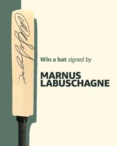 Amazon Commercial Services – Win 1 of 8 prizes including a bat signed by Marnus Labuschagne