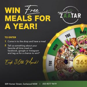 Operation Zaatar – Win free meals for a year