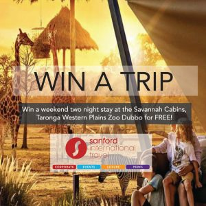 Sanford Travel – Win a 2-night stay at Taronga Western Plain Zoo Dubbo for 4