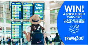 TravelZoo – Win a $2,000 flight voucher to go anywhere