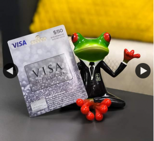 A – Win this $50 Visa Gift Card