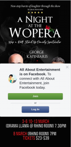 All About Entertainment – Win a Double Pass to a Night at The Wopera
