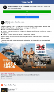 All 4 Adventure – Win 1 of 4 Adult Passes to The Brisbane National 4×4 Outdoors Show