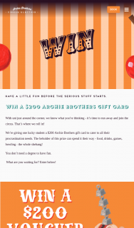 Archie Brothers – Win a $200 Archie Brothers Gift Card