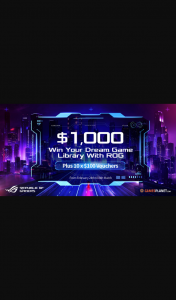 ASUS – Win Up to $1000 Worth of Prizes