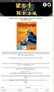 Aussie Comedy Kingdom – Win a Copy of this Five Season Boxset of The Goldbergs on DVD