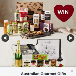 Australian Gourmet Gifts – Win One of 2 Hampers for Valentine's Day (prize valued at $89.95)