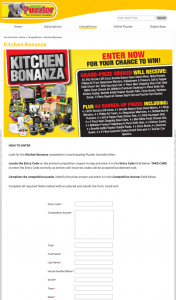 Australian Puzzler – Win a Kitchen Bonanza 65 Prizes to Be Won (prize valued at $12,478)