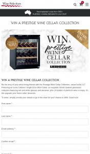 Australian Wine Selectors – Win a Prestige Wine Cellar Collection' (prize valued at $4,117)
