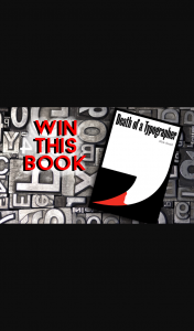 Australian Writers Centre – Win One of Three Copies of Death of a Typographer Book