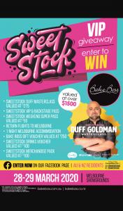 Bake Boss Australia – Win a Bake Boss & Sweetstock VIP Experience ] (prize valued at $1,500)
