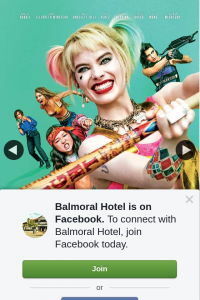 Balmoral Hotel – Win Double Pass to Opening of Birds of Prey Movie and Dinner for 2 at Balmoral