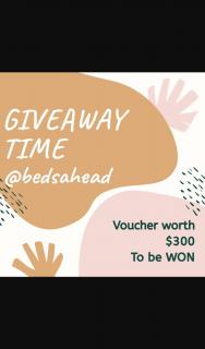 @Bedsahead – Win a $300 Voucher