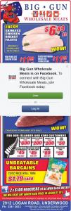 Big Gun Wholesale Meats Underwood – Win 1 of 2 $200 Vouchers