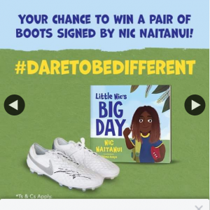 Booktopia – Win We Have Another Signed Pair of White Nike Boots Signed By AFL Star Nic Naitanui to Give Away