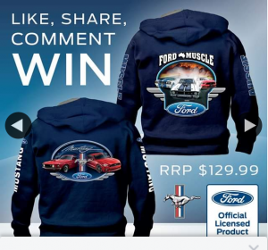 Bradford Exchange – Win a Ford Hoodie (prize valued at $130)