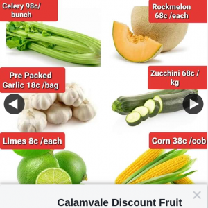 Calamvale Discount Fruit Barn – Win a $60 Fruit & Veg Voucher (prize valued at $60)