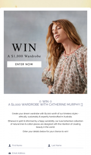 Catherine Murphy – Win a $1000 Wardrobe With Catherine Murphy (prize valued at $1,000)