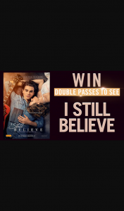 Channel 7 – Sunrise Family – Win a Double Pass to See I Still Believe