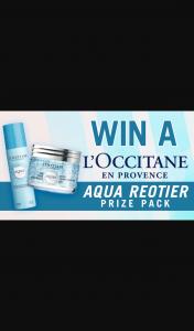 Channel 7 – Sunrise – Win a L'occitane Aqua Reotier Skin Care Pack (prize valued at $234)