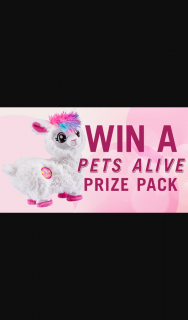 Channel 7 – Sunrise – Win One of Three Pets Alive Prize Packs (prize valued at $300)