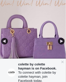 Colette by Colette Hayman – Win 1 of 4 $50 Vouchers to Use Online (prize valued at $200)