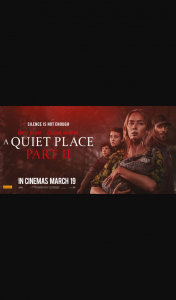 Community News – Win 1 of 50 Double Passes to a Quiet Place Pt 2