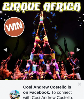 Cosi Andrew Costello – Win One of Twenty Double Passes to Cirque Africa at Adelaide Fringe