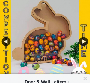 Door & Wall Letters much more – Win Personalised Easter Bunny Egg Holder