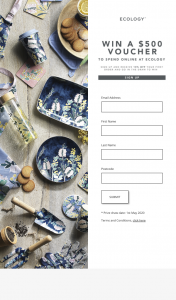 Ecology – Win a $500 Homeware Voucher From Ecology