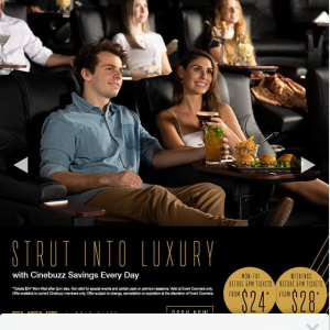 Event Cinemas Coorparoo – Win a Double Pass to Gold Class