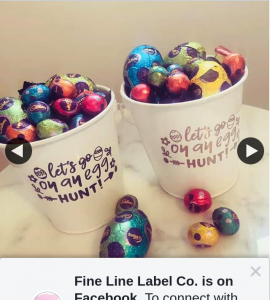 Fine Line Label Co – Win 1/2 Easter Buckets Filled With Easter Treats