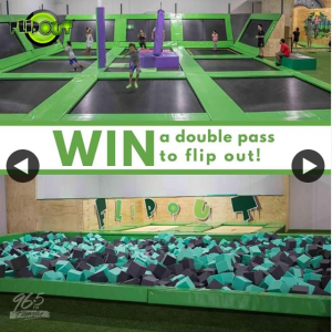 96five – Win a Double Pass to Flip Out Trampoline Arena Seqld Residents Only