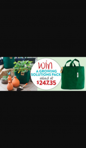 Gardening Australia – Win Waterpot Ollas and Grow Bags (prize valued at $247.35)