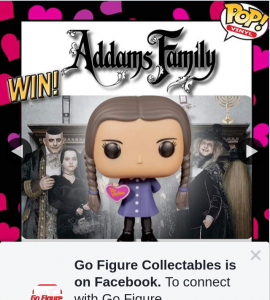 Go Figure Collectables – Win Wednesday Addams With Love Heart Pop Vinyl Figure