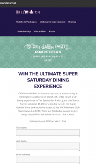 Gourmet Traveller – Win The Ultimate Super Saturday Dining Experience @flemington Racecourse (prize valued at $1,460)