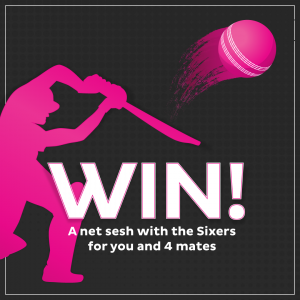 iinet – Sixers Net Session – Win 1 of 4 sessions for 5 people to attend Olympic Park for an indoor net session with team members from the Sydney Sixers