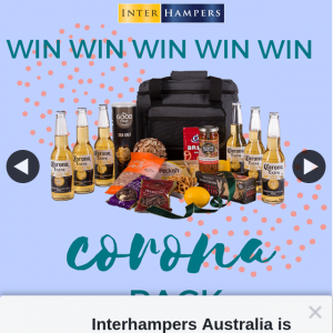 Interhampers Australia – Win a Corona Pack Gift Hamper (prize valued at $68)