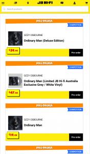 JB HiFi Pre-order Ozzy Osbourne's Ordinary Man & – Win a Lithograph Signed By Ozzy Osbourne Himself