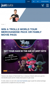Just Cuts – Win a Trolls World Tour Merchandise Pack Or Family Movie Pass