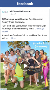 KidTown Melbourne – Win Family Pass Gumbaya World Day of Your Choice 7