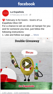 La Española – Win an Olive Oil Hamper for You and for Someone You Love