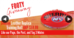 Lawrencia Cycles – Win a Sherrin Leather Replica Match Training Ball Valued at $59.99 to Kick Around this Winter (prize valued at $59.99)