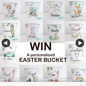 Lullaby Gifts – Win a Unique Personalised Metal Easter Bucket