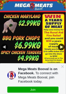 Mega Meats Booval – Win a $100 Meat Voucher (prize valued at $100)